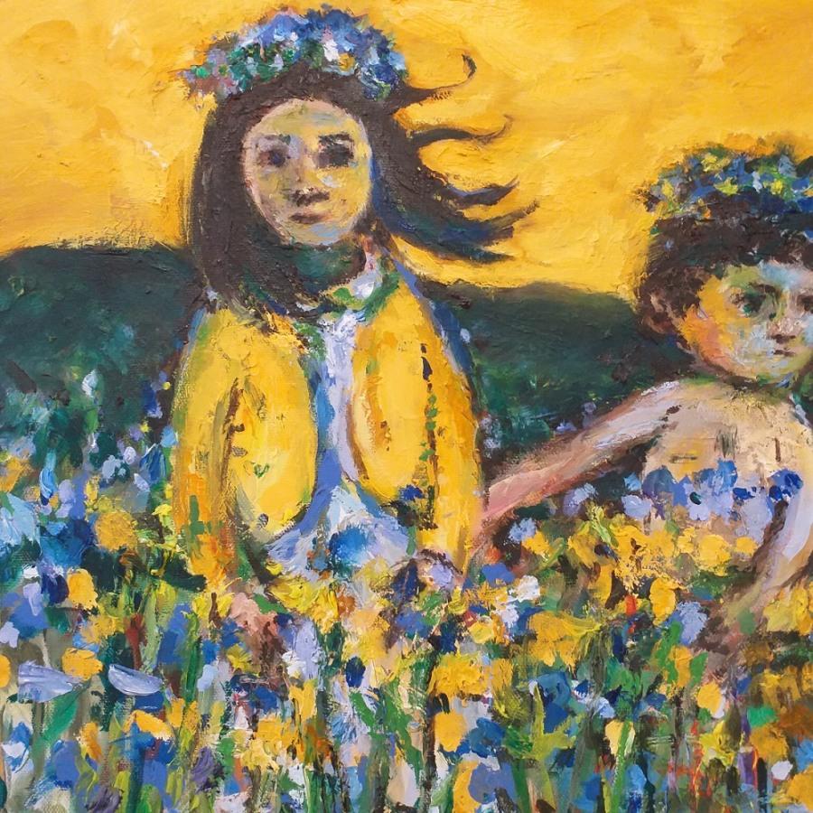 Amongst the Flowers 5r John Martin Fulton
