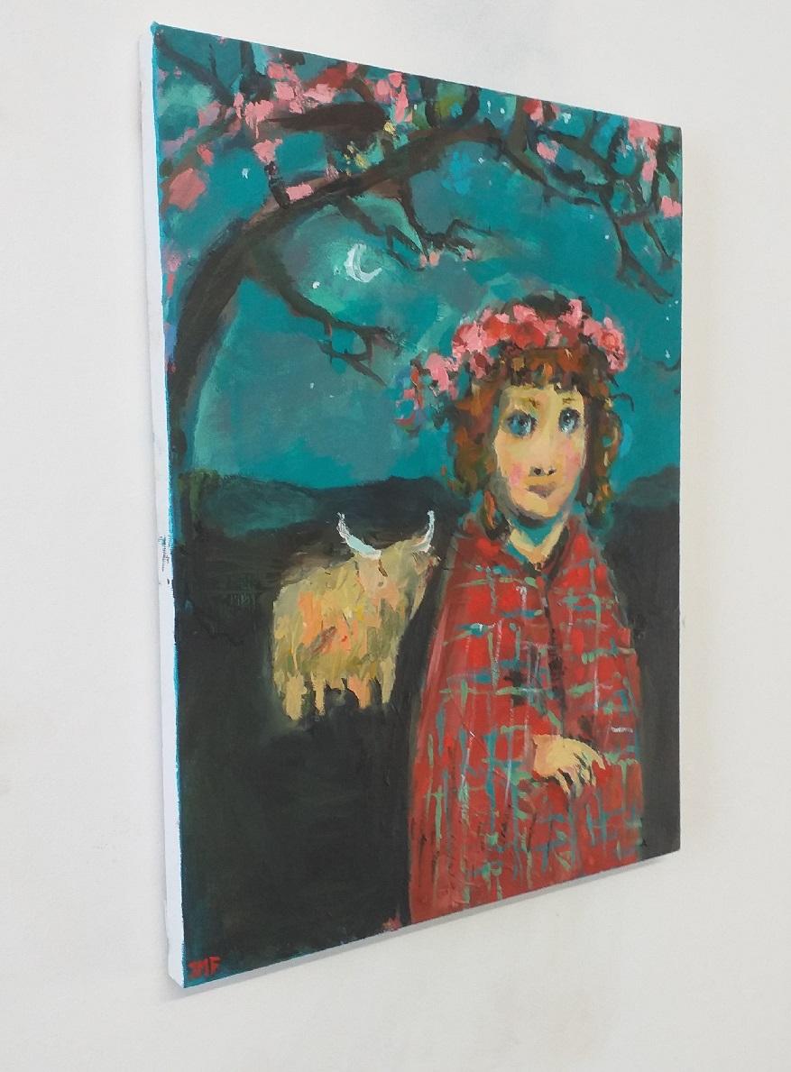 Girl With A Tartan Shawl 2 John Martin Fulton