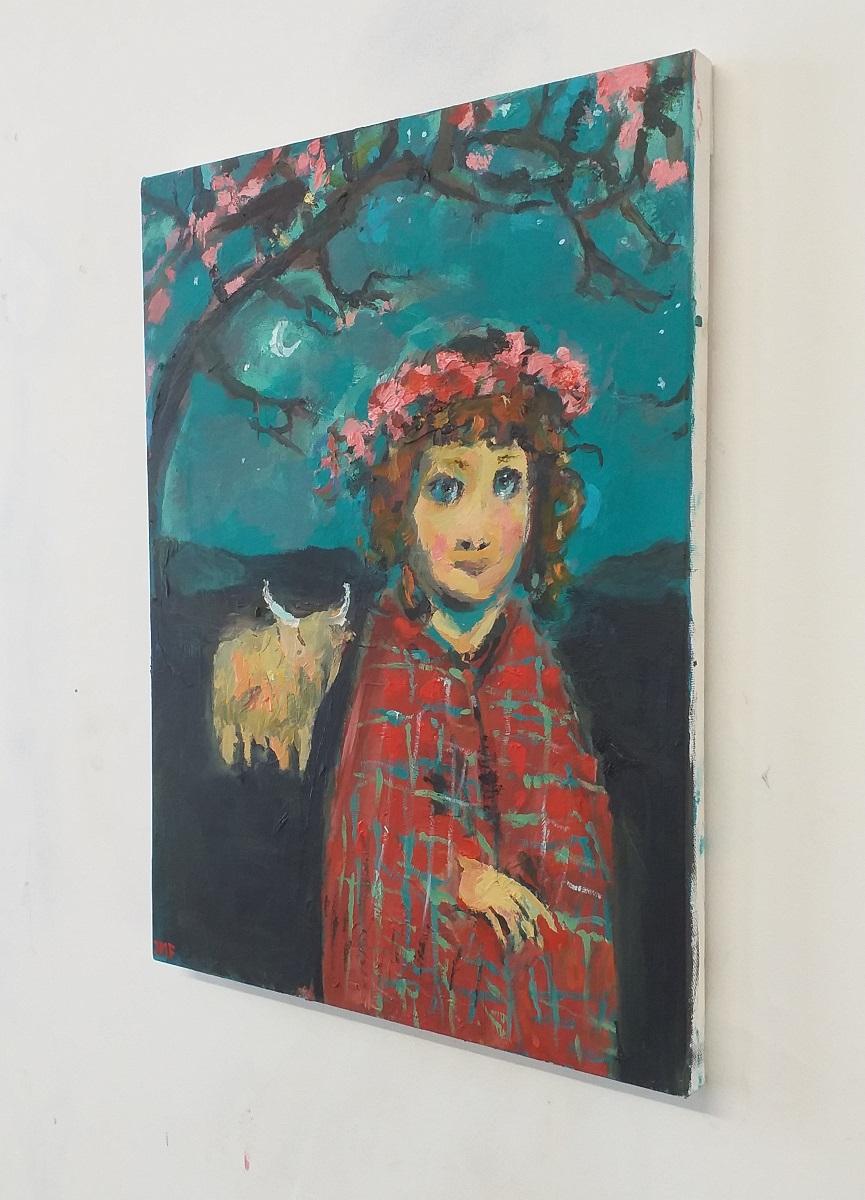 Girl With A Tartan Shawl 3 John Martin Fulton
