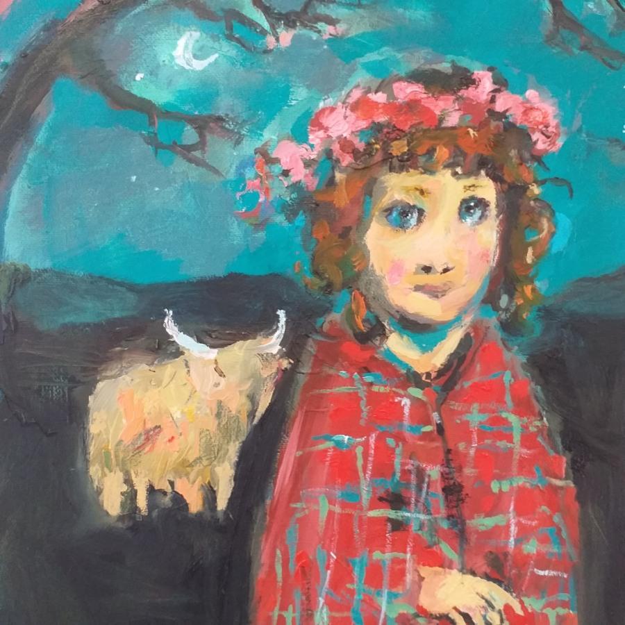Girl With A Tartan Shawl 5 John Martin Fulton