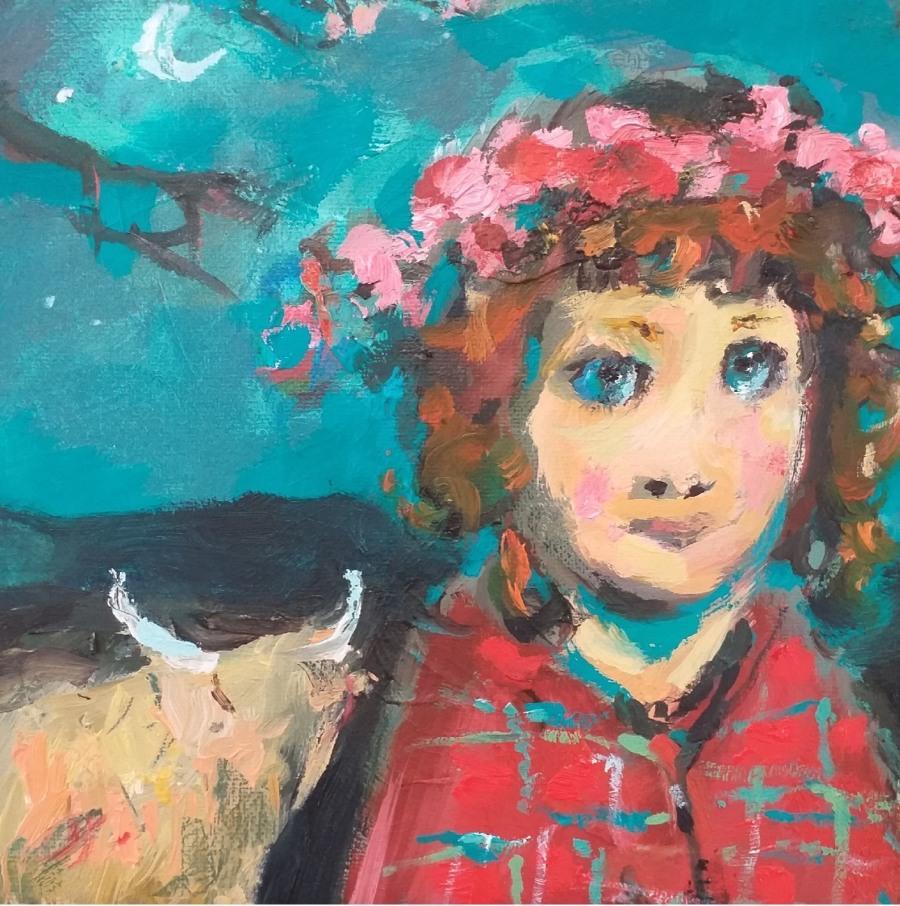 Girl With A Tartan Shawl 6 John Martin Fulton