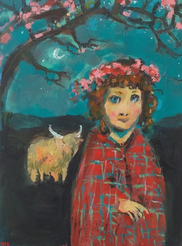 Girl With A Tartan Shawl 8 John Martin Fulton