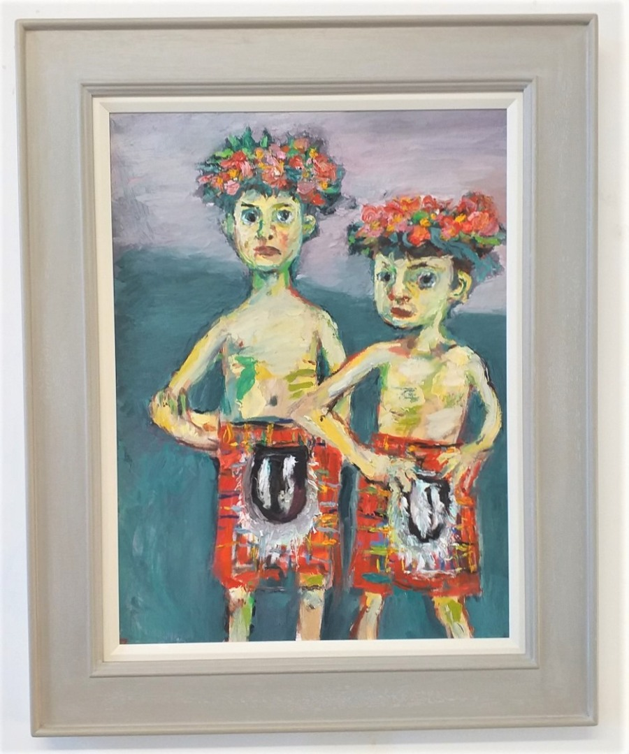 Two Boys in Kilts 2 John Martin Fulton