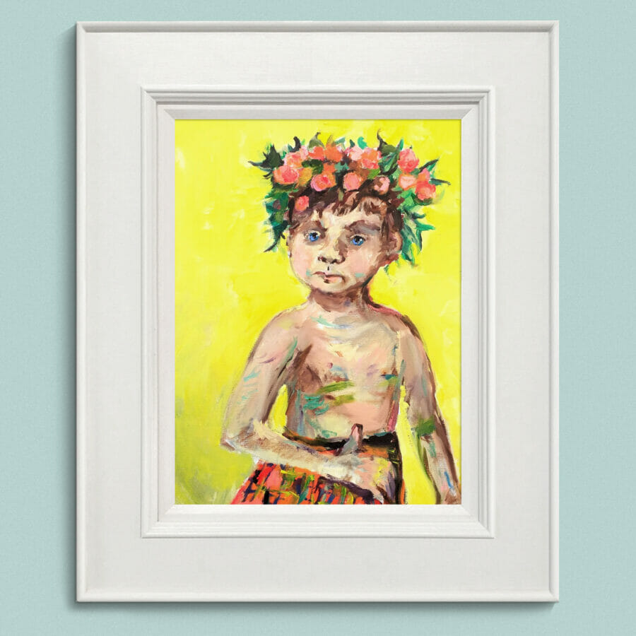 Boy Wearing a Wreath Framed 3 John Martin Fulton