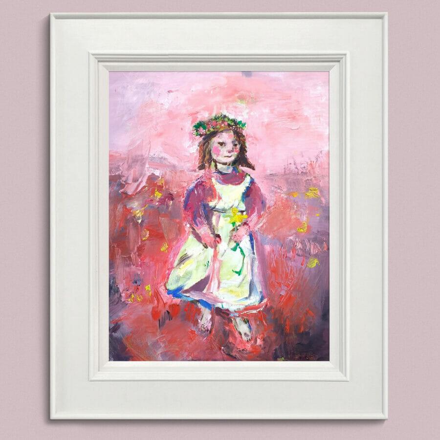 Flower Girl Framed John Martin Fulton
