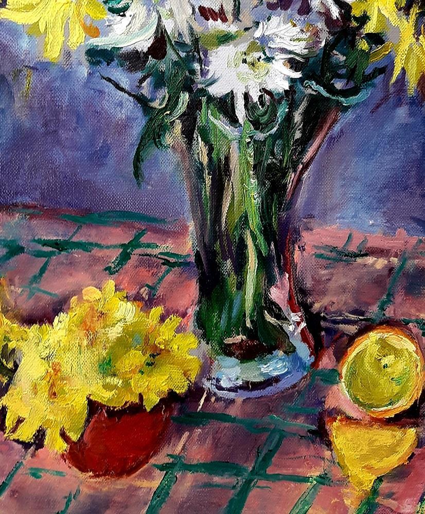 Yellow and White Chrysanthemums 3 John Martin Fulton