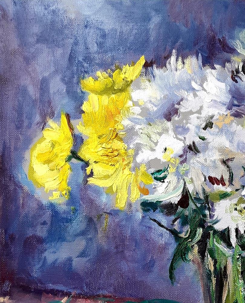 Yellow and White Chrysanthemums 4 John Martin Fulton