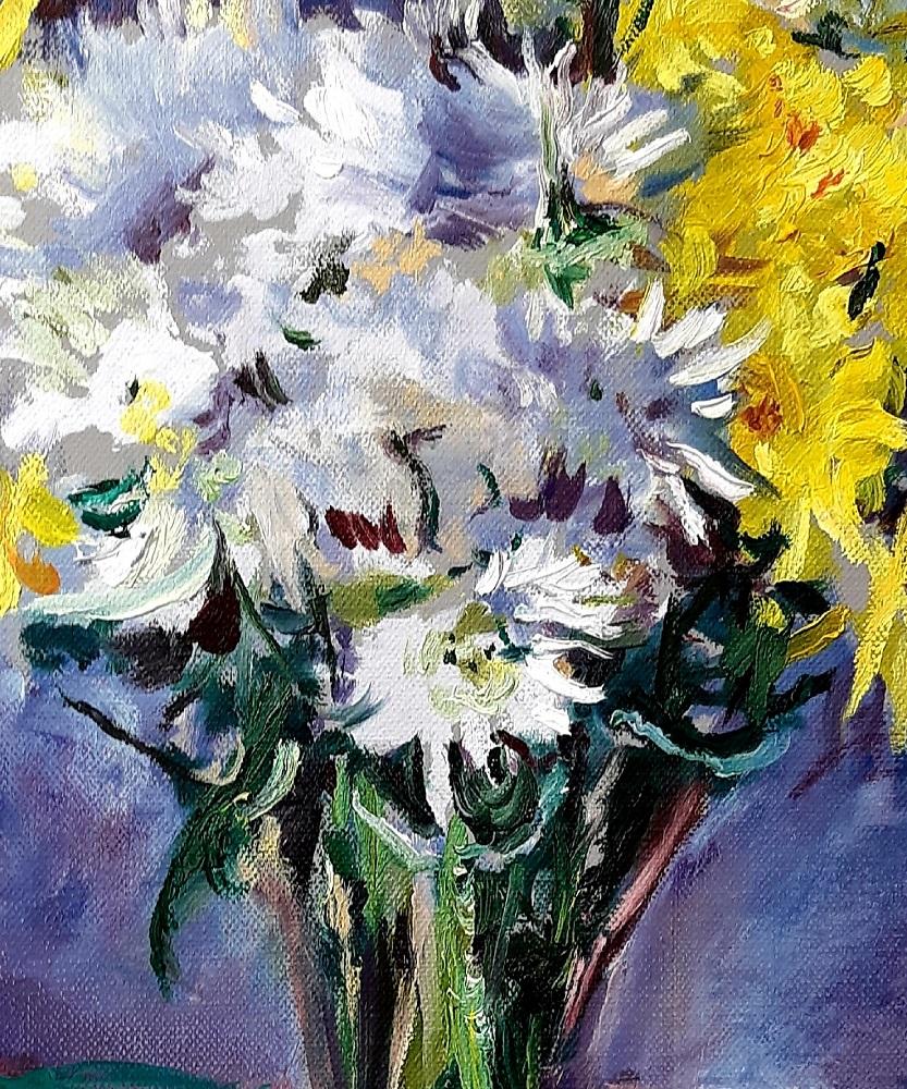 Yellow and White Chrysanthemums 5 John Martin Fulton